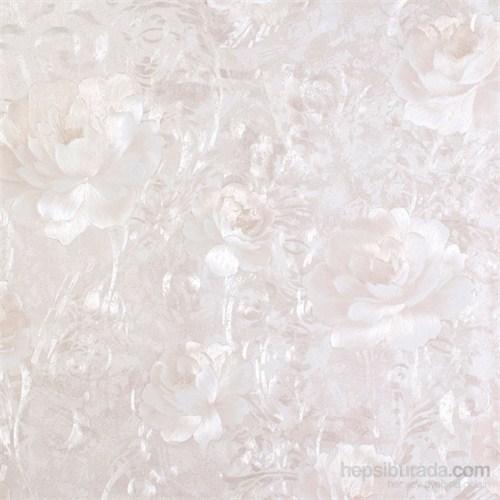 Gül Beyaz Vinyl Duvar Kaplaması.