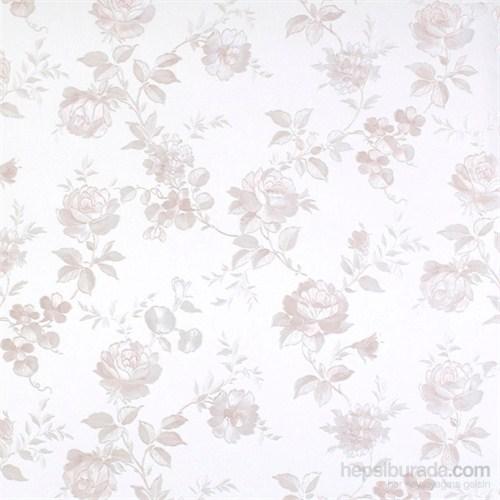 Çiçek Beyaz Vinyl Duvar Kaplaması.