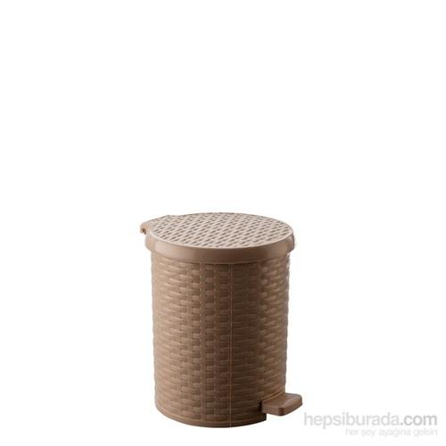 Çöp Kovası Raddan Yuvarlak Pedallı-3,5 Lt