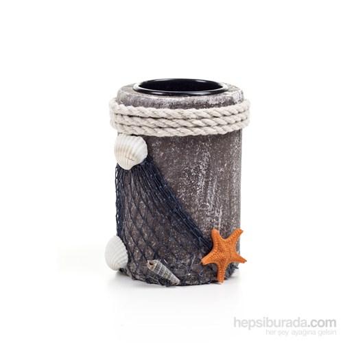 Deniz Yıldızı Ahşap Mumluk