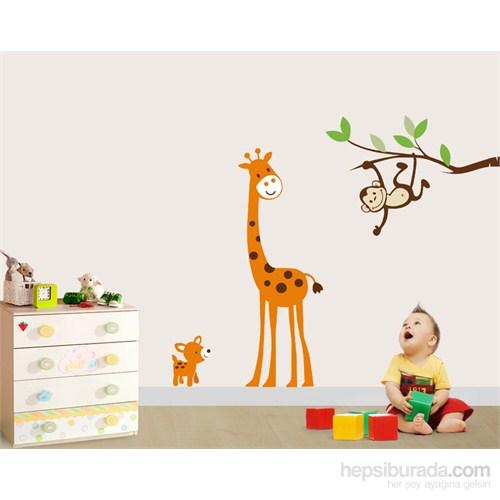 Bestasticker Ağaç Dalı Maymun Ve Zürafa