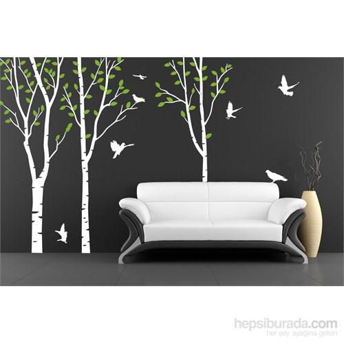 Bestasticker Beyaz Ağaç Orman Sticker