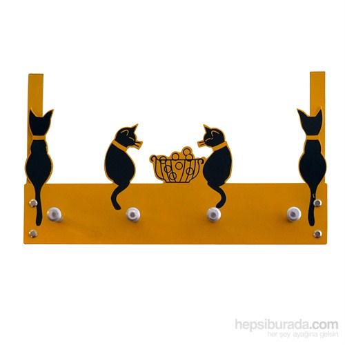 Balkondaki Kediler Kapı Askılığı 5