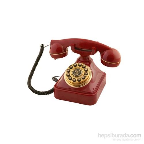 Anna Bell Bordo Eskitme Çevirmeli Klasik Telefon