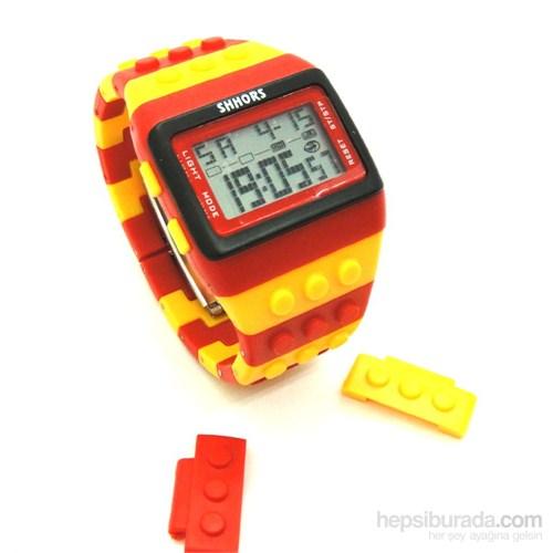 Sarı Kırmızı Yap Boz Saat