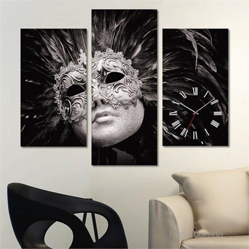 Tabloshop - Black Mask Tablo Saat - 81X60cm - Çerçeve Hediye