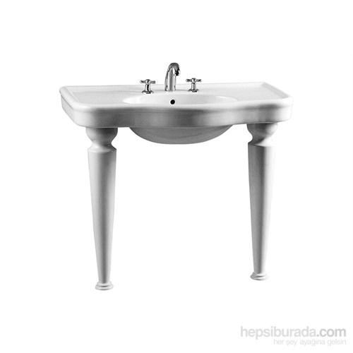 Vitra Efes Konsollu Lavabo 100Cm-Beyaz (Vitra Clean)