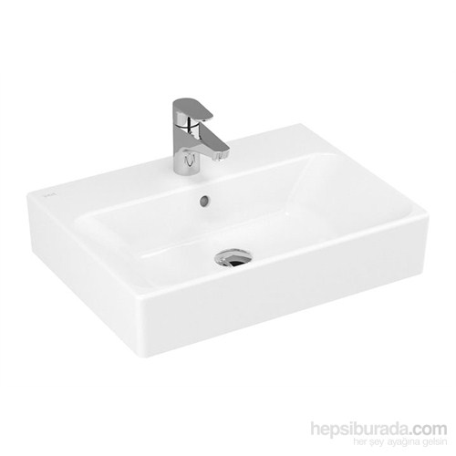 Vitra Nuo Çanak Lavabo 60Cm-Beyaz (Vitra Clean)