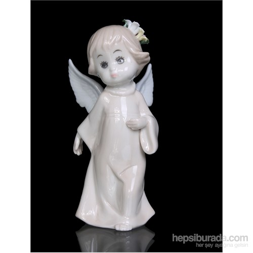 Bebek Melek Figürlü Porselen Biblo