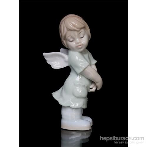 Kız Çocuk Figürlü Porselen Biblo