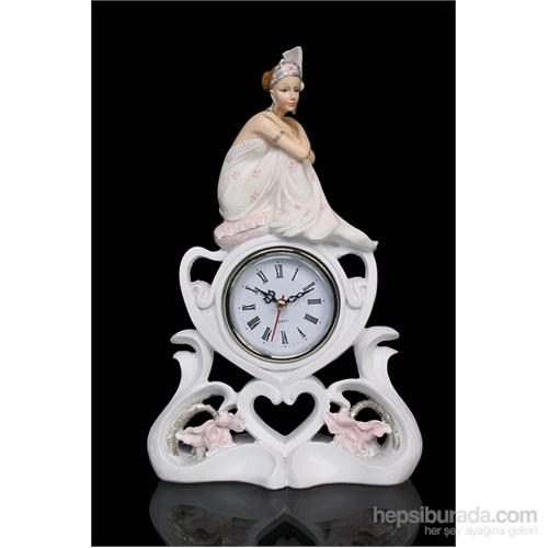Kadın Figürlü Saat Figürlü Biblo