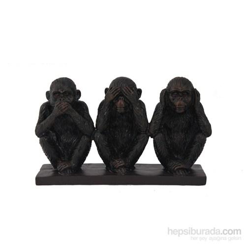 Üç Maymun Figürlü Biblo