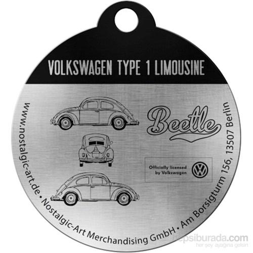 VW Beetle Yuvarlak Anahtarlık