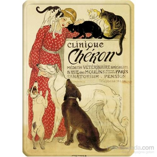 Metal Poster - Clınıque Cheron - Steinlen Cp 15X20cm.