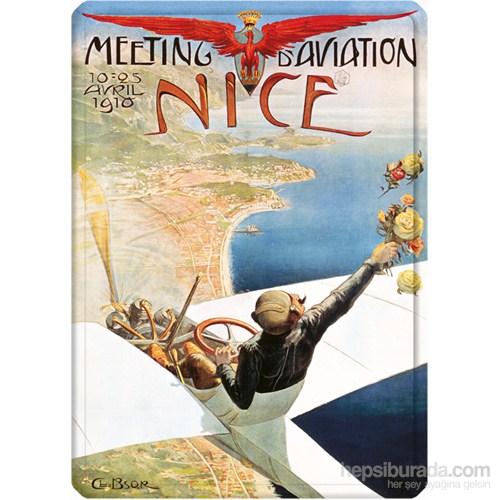 Metal Poster - Meetıng D'avıatıon Nıce 15X20cm.
