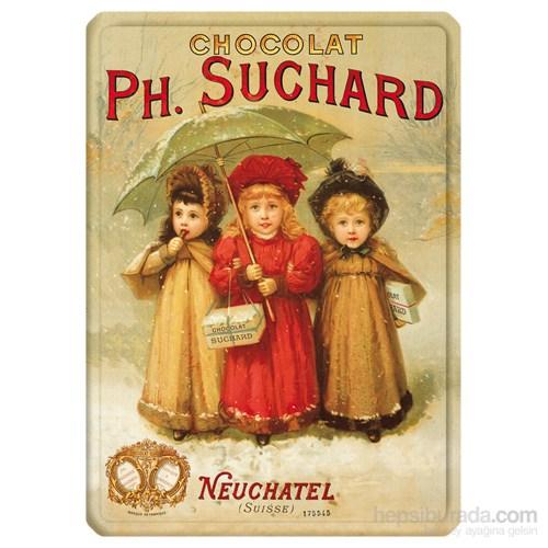 Metal Poster - Chocolat Suchard 3 Enfants 15X20cm