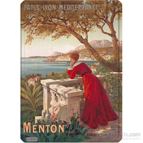 Metal Poster - Menton - D'alési 15X20cm.