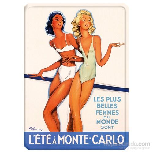 Metal Poster - L'ete Monte Carlo 15X20cm.