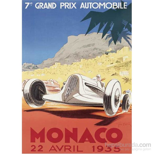 Metal Poster - Monaco 1935 Geo Ham 15X20cm.