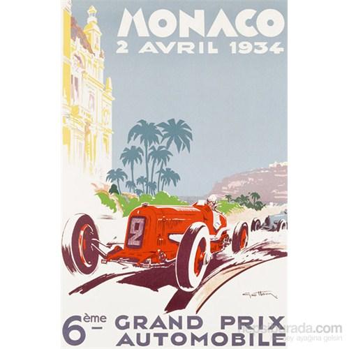 Metal Poster - Monaco 1934 Géo Ham 30X40cm