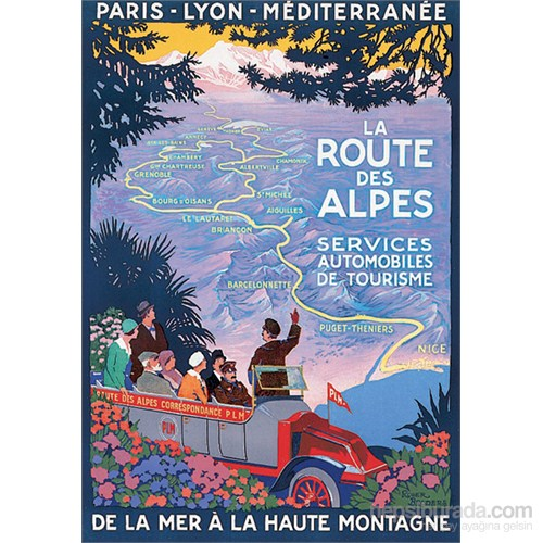 Metal Poster - La Route Des Alpes Broders 30X40cm