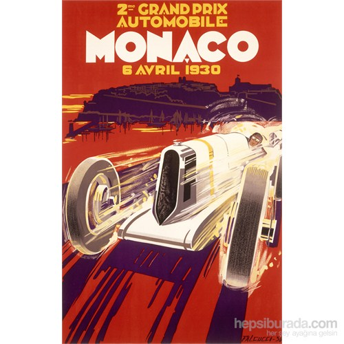 Metal Poster - Monaco 1930 Falcuccı 30X40cm.