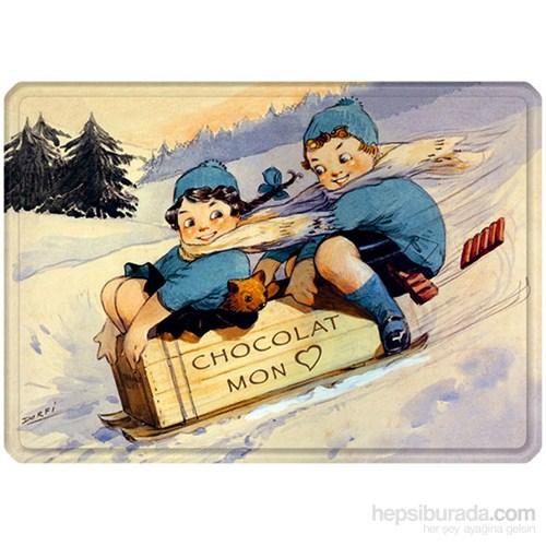 Metal Poster - Chocolat Mon Coeur Dorfi Plaque 30X40cm