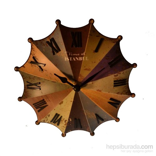 Renkli Şemsiye Masa Saati