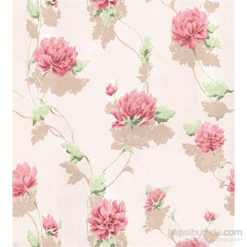 Emboss 220 Çiçek Kırmızı Duvar Kağıdı