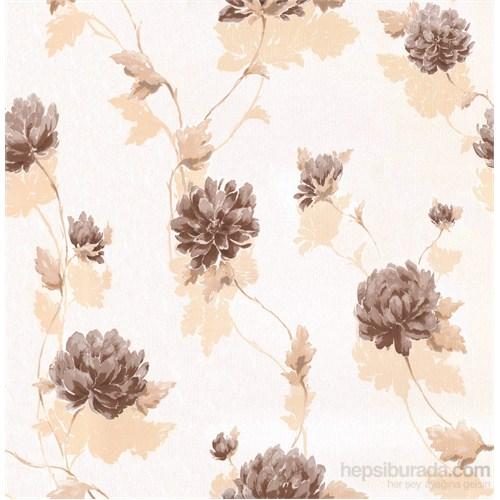 Emboss 222 Çiçek Bej Duvar Kağıdı