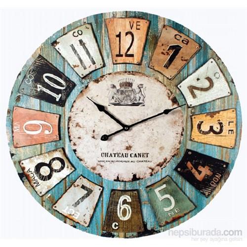Ah ap yuvarlak retro style duvar saati 50x50x5cm fiyat for Grosse horloge murale design