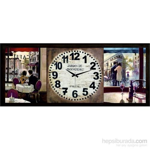 Ahşap Retro Style Duvar Saati 100X45x5cm