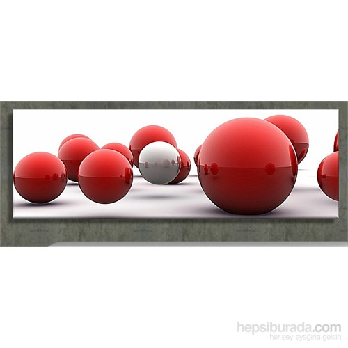Kırmızı Toplar Kanvas Tablo