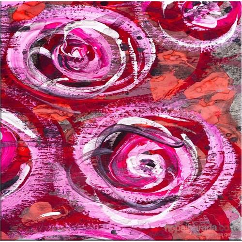Modern Çiçek Kanvas Tablo