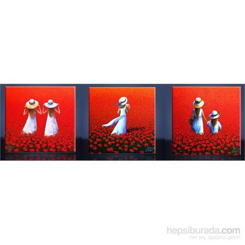 Kırmızı Gelincikler Kanvas Tablo