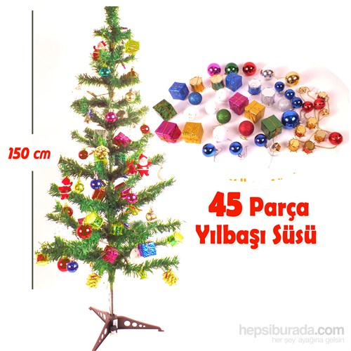 Act 150 Cm Yılbaşı Ağacı Seti 44 Parça Dekoratif Süs