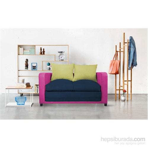 Soli Kanepe Pembe - Lacivert - Sarı