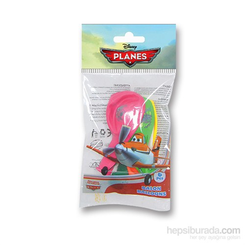 Planes Poşet İçi 6'Lı Balon