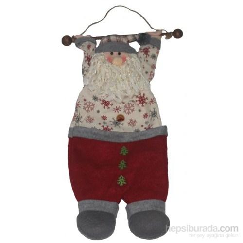 Askıda Noel Baba Cepli Dekoratif Süs