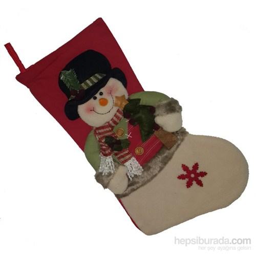 Kardan Adam Kaliteli Hediyelik Çorap Süs 45 Cm