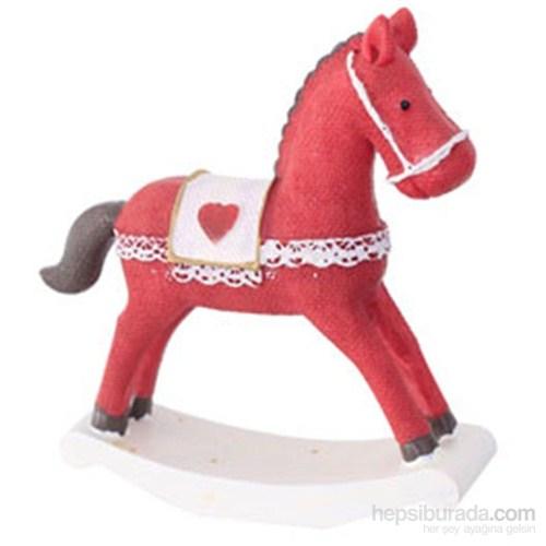Yılbaşı Dekoratif Kırmızı At Süs Seramik