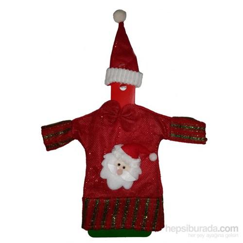 Yılbaşı Noel Babalı Şişe Kılıfı