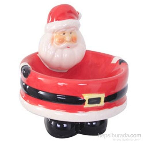 Noel Baba Kırmızı Seramik Tabak