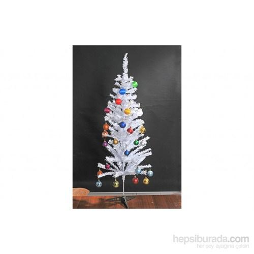 Beyaz Yılbaşı Çam Ağacı 150 Cm
