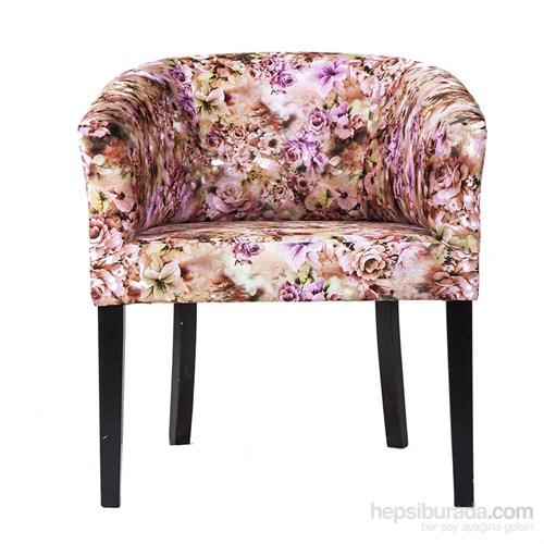 3A Mobilya Pink Flowers Berjer -Desenli