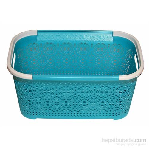 Dantel Desenli Çamaşır Selesi-Mavi