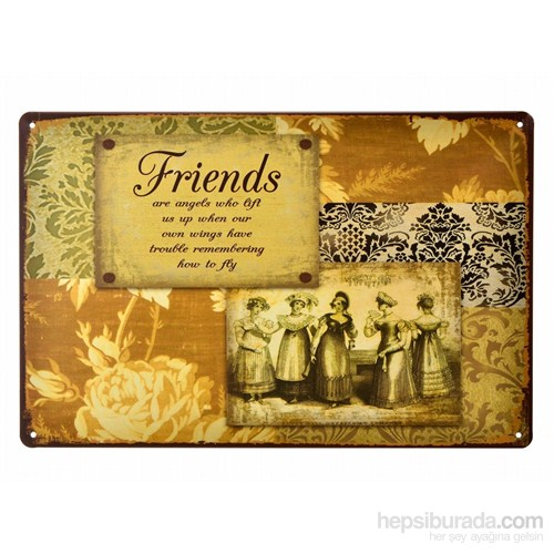 Decotown Friends Metal Levha 20*30-5383