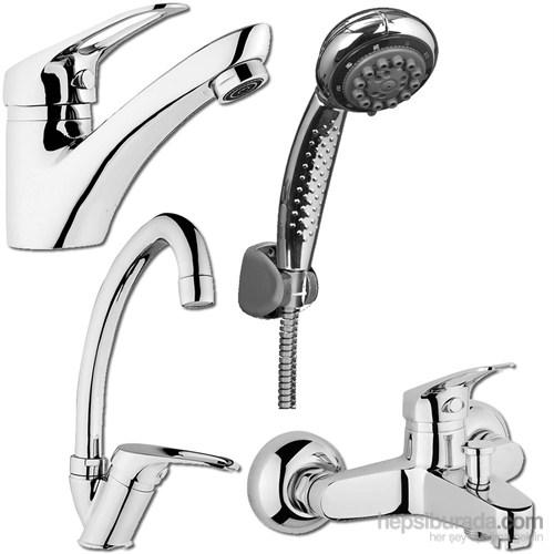 Şenpres Kampanya Set (4 Parça)Lavabo+Eviye+Banyo+Duş Seti