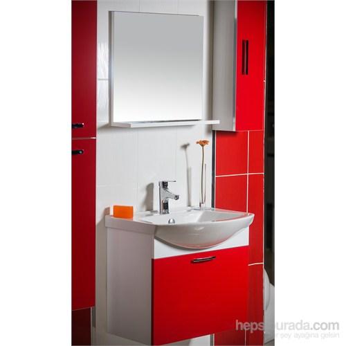 Ilgaz 65 Cm Banyo Dolabı Kırmızı