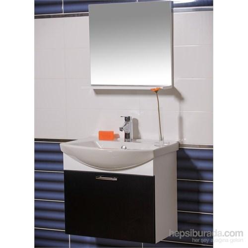 Ilgaz 65 Cm Banyo Dolabı Siyah